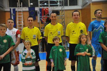 """V končnici 1.SFL bodo dejavne """"tojke"""", na sliki Zahovič, Nikolič in Bubulj Foto: D.P. www.futsal.si"""