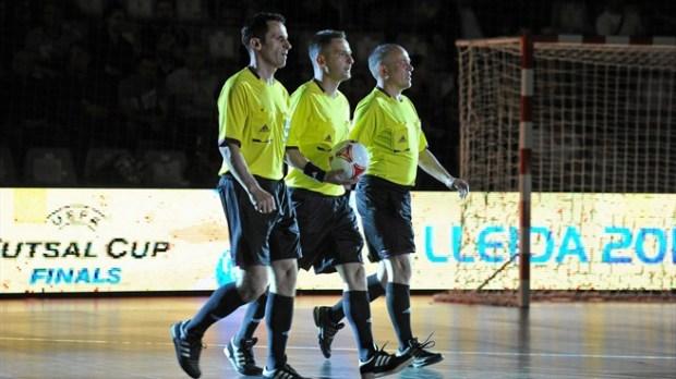 Borut Šivic, Gábor Kovács in Oleg Ivanov na finalu FUTSAL CUP 2012